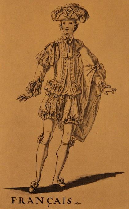 Театральный костюм француза, 18 век. Автор Бокэ
