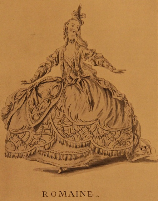 Театральный костюм римлянки, 18 век. Художник Бокэ