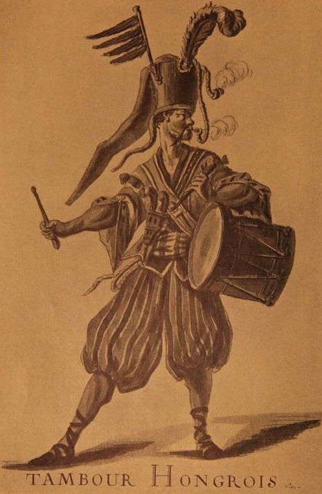 Театральный костюм венгерского барабанщика, 18 век. Боке